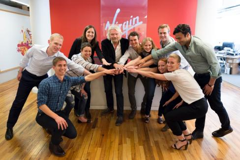 Richard Branson Virgin Team